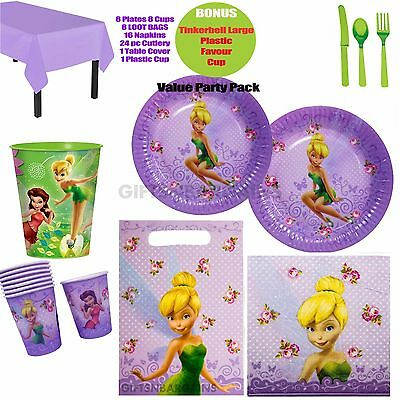 £18.84 • Buy Tinkerbell Birthday Party Supplies Plates Cups Napkins Loot Bags Bonus Extras