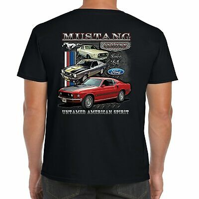 Mens Ford Mustang T Shirt Pony Logo Vintage American Classic Muscle Car Clothing • 12.95£