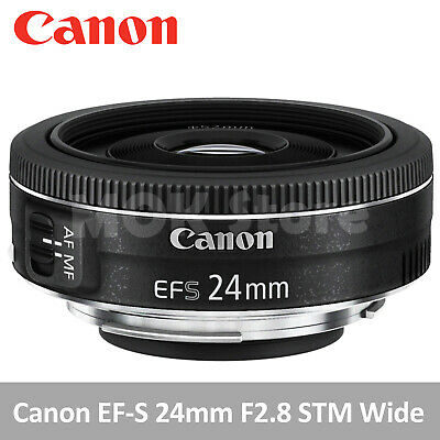 AU266.49 • Buy CANON EF-S 24mm F2.8 STM Wide Angle Digital Mirrorless Camera Lens