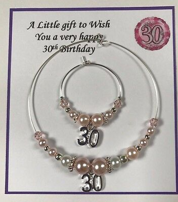 Wine Champagne Bottle & Glass Charm  18th & 21st Birthday Present Pink Gift Bag • 5£
