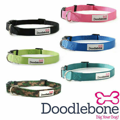 Doodlebone Dog Collars Puppy Bold Durable Nylon Adjustable 5 Sizes / 6 Colours • 4.49£