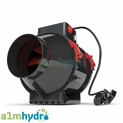 Black Orchid Hybrid Flo Twin 2 Speed Grow Room Tent Extraction Fan Hydroponics • 44.99£