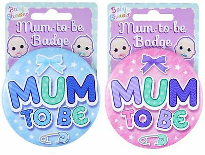 £0.99 • Buy Mum To Be Metal Lapel Pin Badge Pink Blue Boy Girl Baby Shower Maternity Party