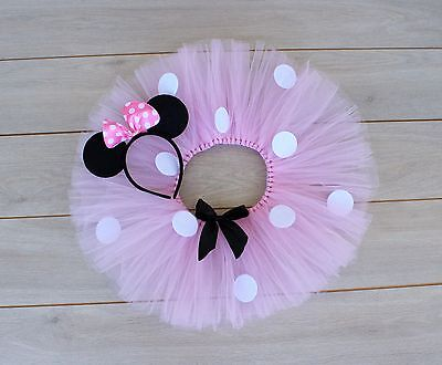 AU35 • Buy Cake Smash Outfit - Light Pink Minnie Mouse First Birthday Tutu Set - Baby Girl