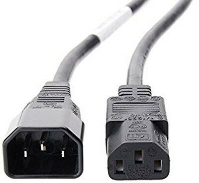 Power Extension Cable IEC C14 Male Plug To IEC C13 Female Socket • 5.79£