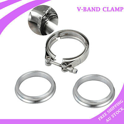 AU28.85 • Buy 2.5  63mm V-Band Vband Clamp Stainless Steel Flange Turbo Exhaust Downpipe Clamp