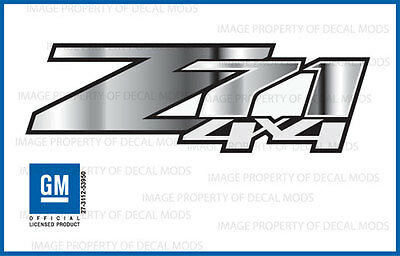$17.22 • Buy Set Of 2 - Z71 4x4 GMC Sierra 07-13 Decals Stickers Truck - Chrome Fade GRCHRM
