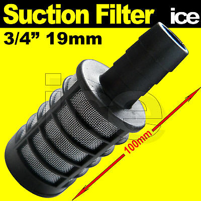FISH TANK AQUARIUM POND WATER PUMP INLET SUCTION FILTER FOR 3/4  19mm HOSE PIPE • 11.99£