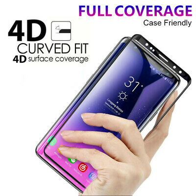 AU6.64 • Buy Tempered Glass Full Cover Screen Protector For Galaxy S9 S8 Plus Note 8 9