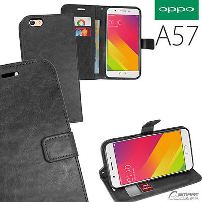 AU6.99 • Buy Black Wallet Flip Card Slot Stand Case Cover For Oppo Oppo A57