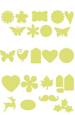 £6.19 • Buy Large Craft Punch Card Making Scrapbooking Paper Cut VARIETY 2.5cm - 7.5cm