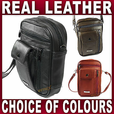 REAL LEATHER Organiser BAG Travel Taxi Bus Driver Money Holder Black Brown Red • 10.95£