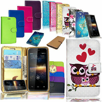 For Vodafone Smart V8 VFD 710 - Luxury PU Leather Book Protective Wallet Case • 1.99£