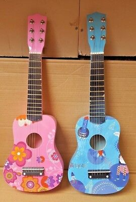 New 21  Children's Kids Wooden Acoustic Guitar Musical Instrument Child Toy  • 13.99£