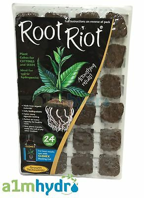 £9.95 • Buy Growth Technology Root Riot 24 Propagation Plant Starter Cubes Tray Hydroponics