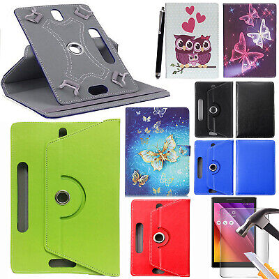 Universal Leather Case Cover For Lenovo Tab 3 10.1 Inch Tablet + Tempered Glass • 8.49£