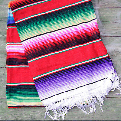 Mexican Stripey Blanket - Red • 32£
