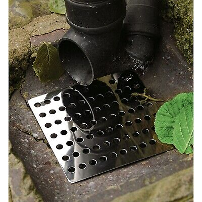 Drain Covers 2Pk Stainless Steel Gulley Grid Guard Hopper Lid 6  Square Metal • 9.75£