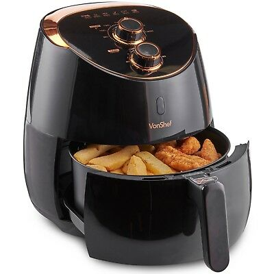 View Details VonShef Air Fryer Low Fat Healthy Cooker Oil Free Frying Chip Fry Black 5L • 64.99£