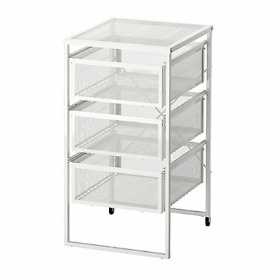 AU49.99 • Buy Filing Drawer Cabinet 4 Drawers File Storage Castor A4 Letter Library Metal IKEA