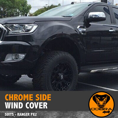 AU39 • Buy  CHROME SIDE WIND COVER FITS FORD RANGER VENT PX PX2 2015-18 ACCESSORIES Everest