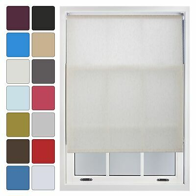 Plain Roller Blinds Up To 240cm X 210cm Quality Trimmable Blind - 14 Colours • 28.99£