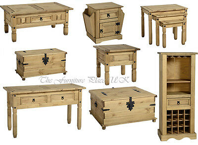 Corona Solid Waxed Pine Coffee Lamp Console Nest Table Chest Wine Rack  • 98.16£