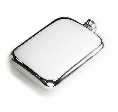 £39.79 • Buy Personalised 6oz Sheffield Pewter Hip Flask With Classic Design -Can Be Engraved