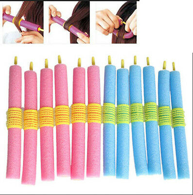 12 Magic Easy No Heat Hair Curlers Soft Bendy Twist Rollers Easy Curling Device  • 5.39£