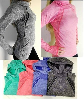 Pro HyperWarm Women's Training Fitness Gym Running Hoodie Top Functional Fabric • 11.99£