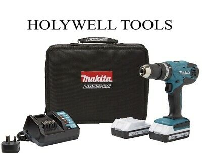 View Details Makita 18v Lithium-ion Cordless Hammer Combi Drill With 2 Batteries - Li-ion • 124.98£