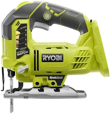 Ryobi 18V Orbital Jig Saw 1100-3000 SPM Multi-Speed Blade Clamp (Tool-Only) • 60.06£