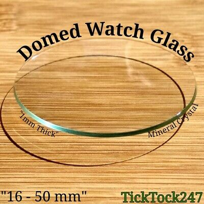£1.99 • Buy Domed Mineral Crystal Watch / Pocket Watch Glass Replacement Sizes 16 - 50 Mm