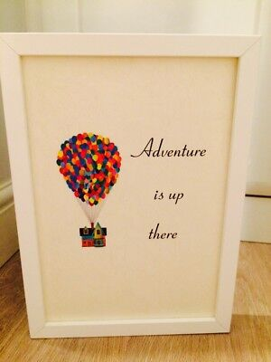 Disney Up House Balloons Quote A4 Print Art Framed Gift Home Nursery Christening • 3.99£