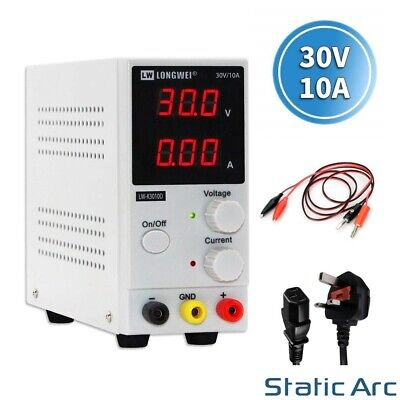 £43.99 • Buy Adjustable Power Supply 30v 10a Switching Dc Digital Led Precision Lab Variable