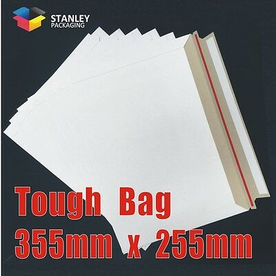 AU108.85 • Buy 400x Card Mailer 255x355mm White 250gsm Envelope B4 Size  Tough Bag Replacement
