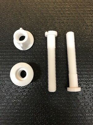 Toilet Seat Hinges Nuts And Bolts Fixing • 3.54£