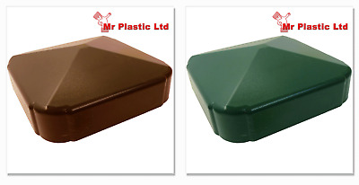 £3.29 • Buy Plastic Fence Fencing Post Cap In Brown Or Green