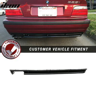 $56.99 • Buy Fits 92-99 BMW E36 3-Series For MT 2Dr 4Dr M3 Style Rear Bumper Diffuser Lip