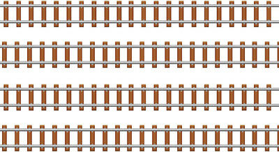 Train Track Edible ICING Sheet Cake Toppers Or Borders X 4 • 2.99£