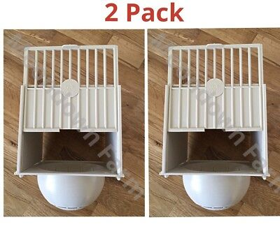 £9.95 • Buy 2 X PLASTIC BREEDING NEST PAN / BOX CANARY FINCH BRITISH Hooks On Cage Fronts