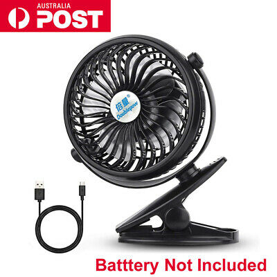 AU18.99 • Buy Portable Clip On Mini Fan Speed Strong Airflow USB Office Student Desk Tent AU