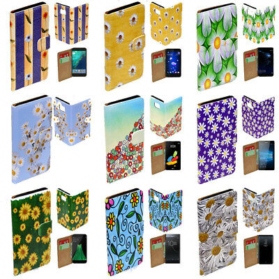 AU14.98 • Buy For OPPO Series - Daisy Flower Theme Print Wallet Mobile Phone Case Cover #1