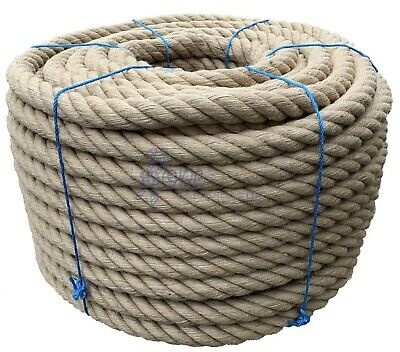 £49 • Buy 40mm Thick Heavy Duty Jute Rope Twisted Braided Garden Decking Cord 12345678910