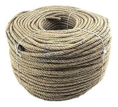 8mm Natural Jute Hessian Rope Cord Twine Braided Twisted Garden Decking Boating  • 17.50£