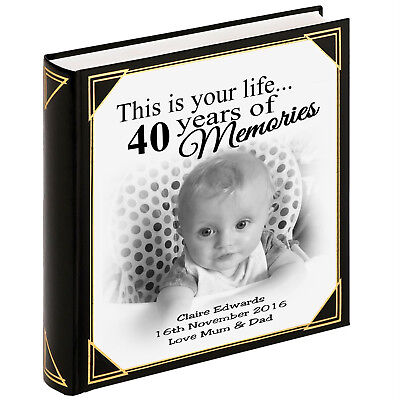 £36.99 • Buy Personalised Large Photo Album, Guestbook, 400 X 6x4  Photos, 40th Birthday Gift