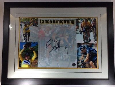 Lance Armstrong Signed And Certified Five Picture Collage Team US Postal Service • 144.71£