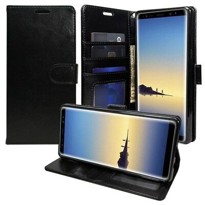 $ CDN11.38 • Buy For Samsung Galaxy Note 8 Leather Flip Luxury Wallet Case CoverStand Strap BLACK