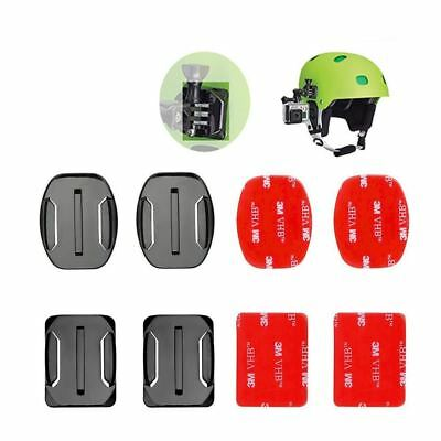 AU5.99 • Buy 4 Pcs Flat Curved Mount Sticker For Go Pro Go-Pro GoPro Hero 5 4 3+ SJCAM Helmet