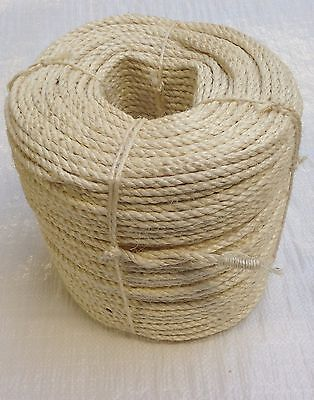 10mm Natural Sisal Decking Rope, Cat Scratching Post, Cats, Garden, Pets, Toys • 14.75£